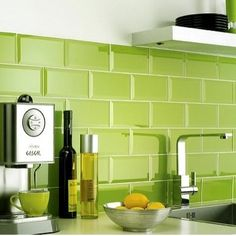 Combineer groen met chroom voor een uiterst frisse look!